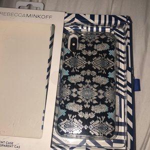 •Rebecca minkoff iPhone X case•